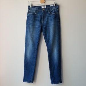Frame Denim Sz 27 Le Garcon Slim Boyfriend Jeans